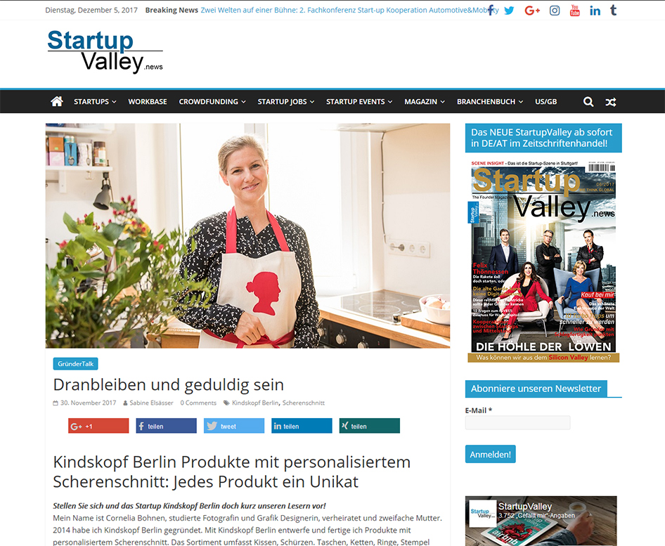 Startup Valley News November 2017