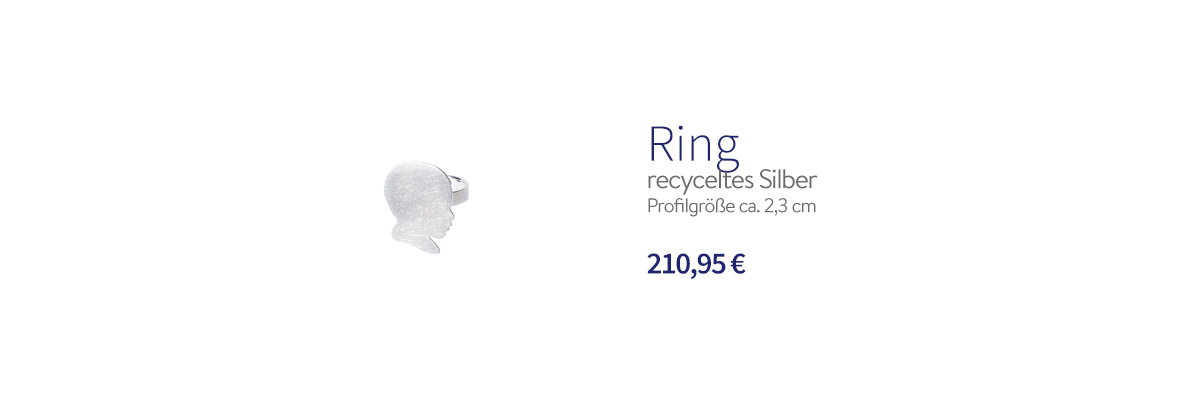 Ring recyceletes Silber